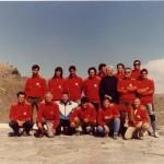 1987 – Gli istruttori del Corso al Rifugio Gastaldi (Alpi Graie)